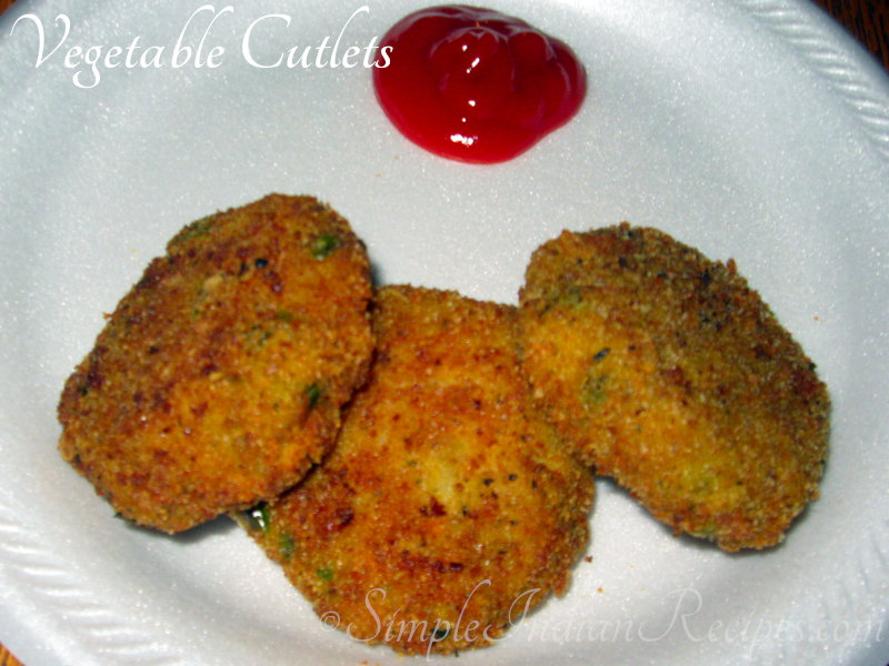Vegetable cutlets simple indian recipes forumfinder Gallery