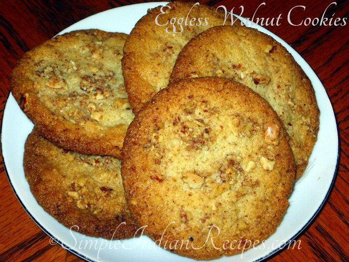 Eggless Walnut Cookies