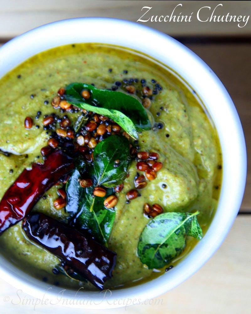 Zucchini chutney simple indian recipes zucchini pachadi zucchini thuvayal zucchini chammandhi forumfinder Choice Image